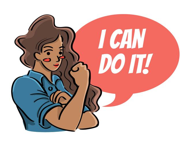 Women of Color Say I Can Do It Illustration