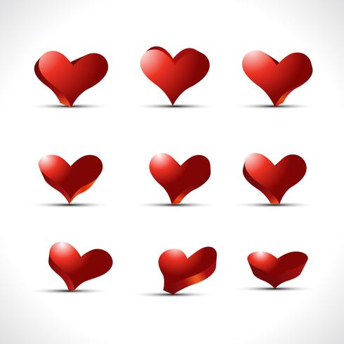 vector set of hearts