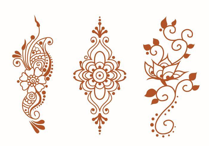 paquete de vectores de henna art