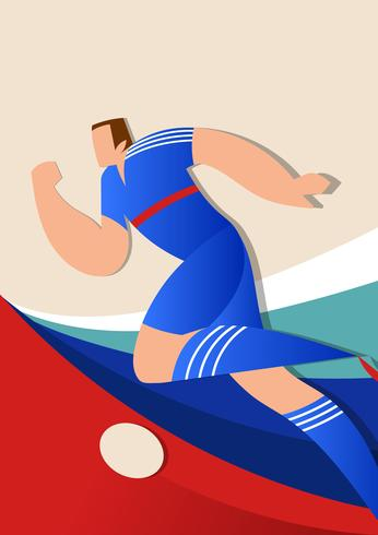 France World Cup Soccer Players Vector