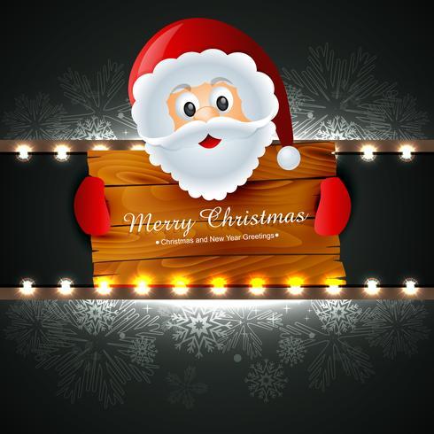 santa claus wishing christmas