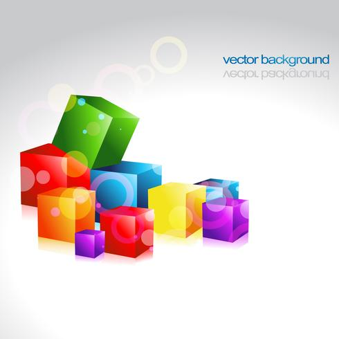 multicolor vector box design artwork