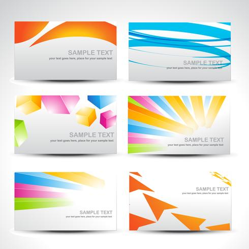 business colorful cards