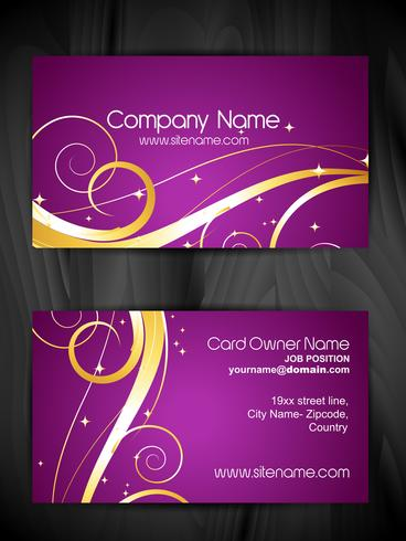 artistic floral business card design