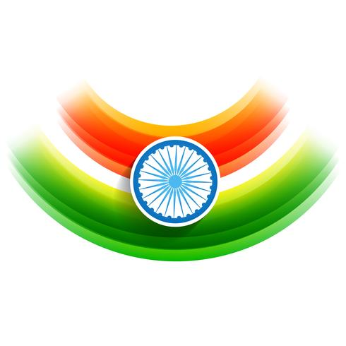 vector indian flag background