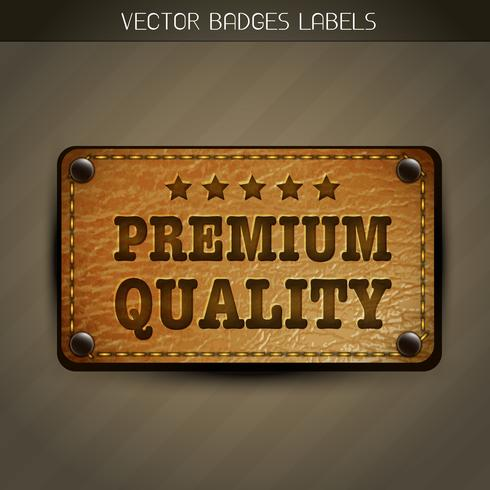 vector premium label