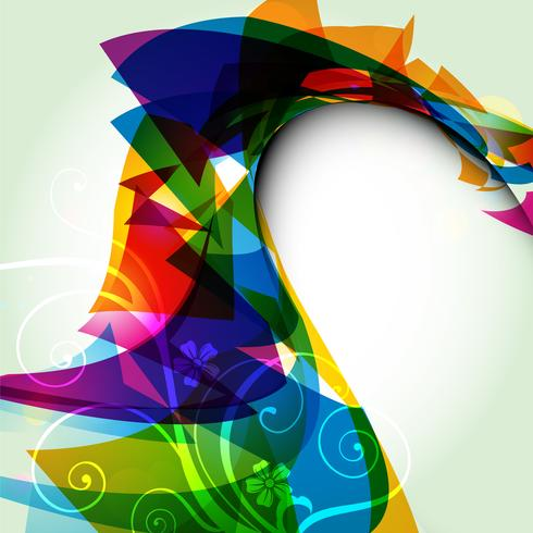 abstract wave style design