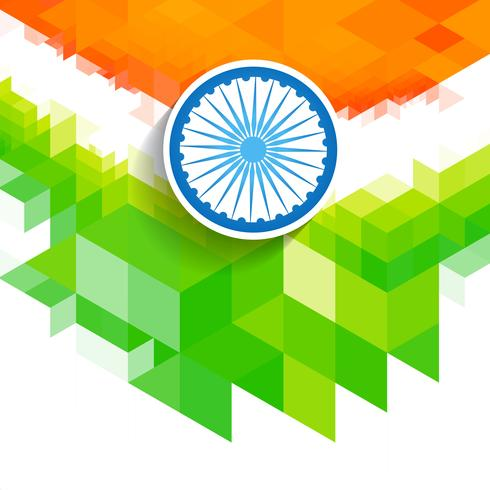 creative wave indian flag