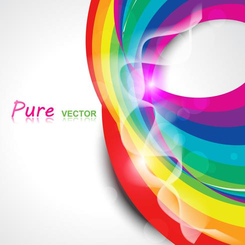 vector rainbow wave