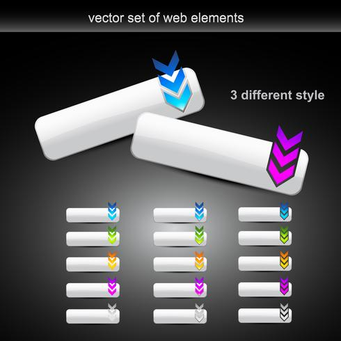 vector set of different style web buttons