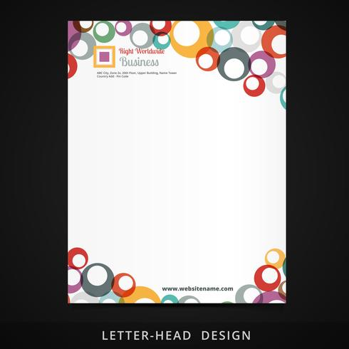 letterhead vector colorful circles design