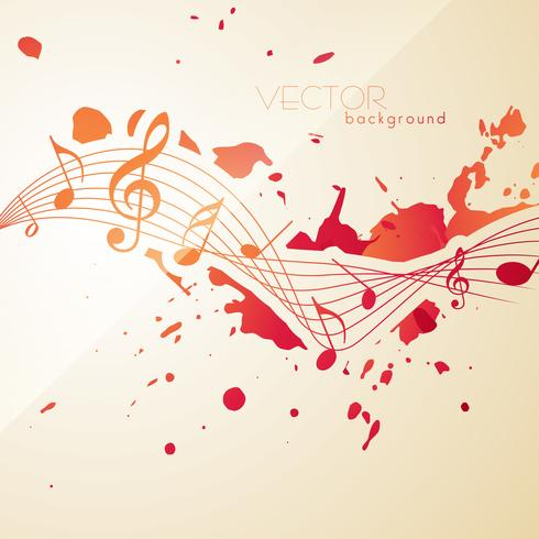 abstract style music notes vector