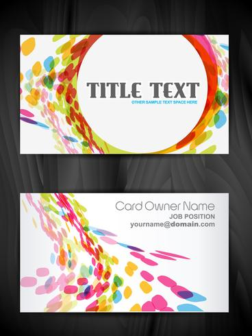 beautiful creative business card design