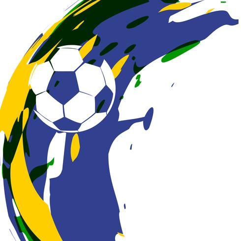 abstract vector football design