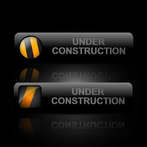 vector dark under construction design art