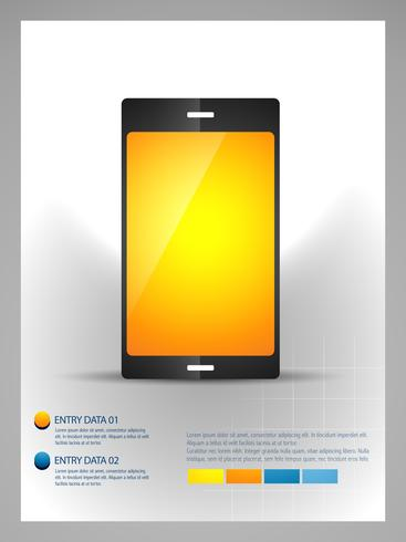 mobile phone infographic template