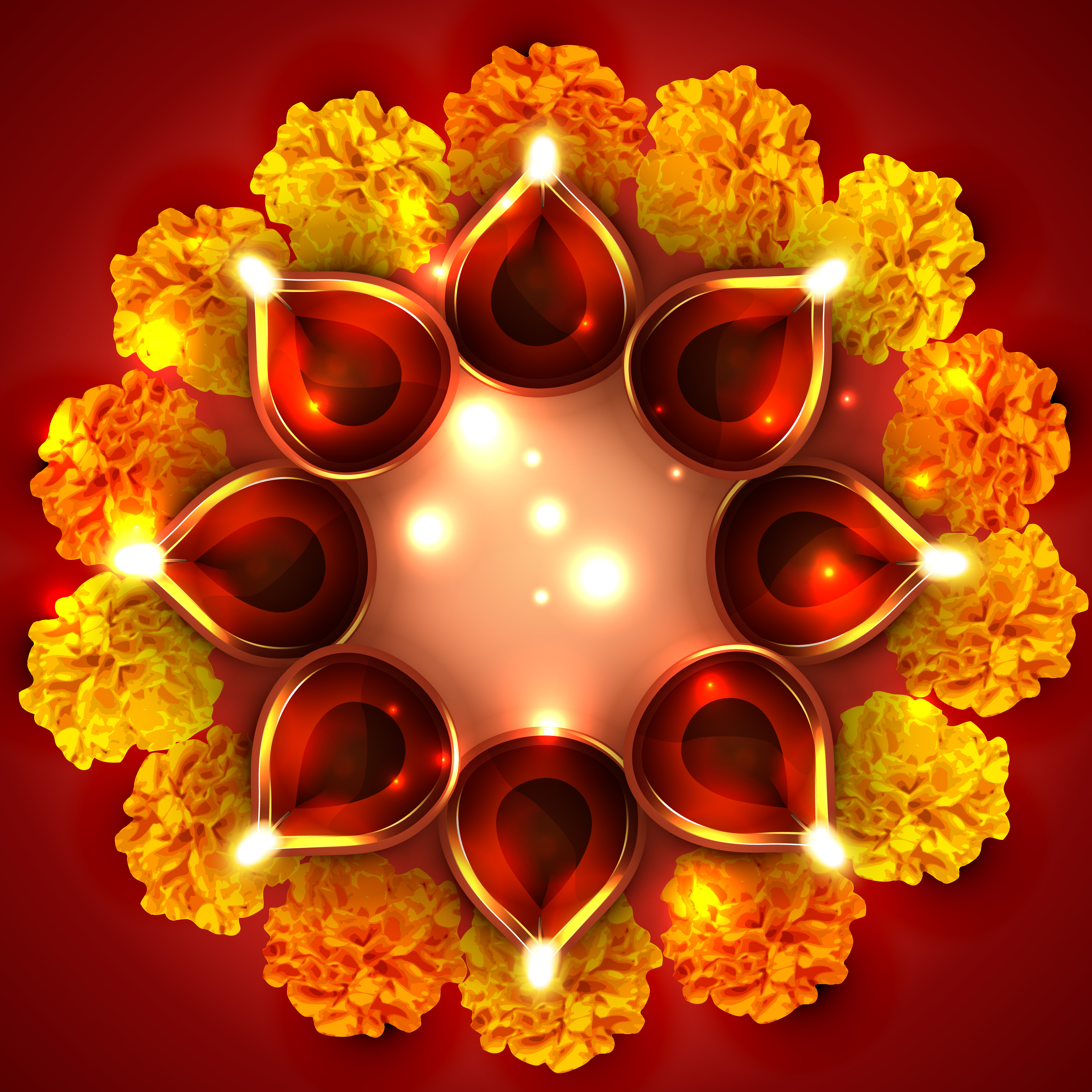 Background Of Diwali Diya Download Free Vector Art