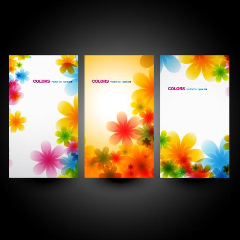 ensemble de fleurs vectorielles