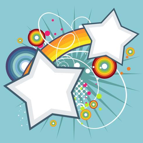 estrella abstracta fondo funky vector