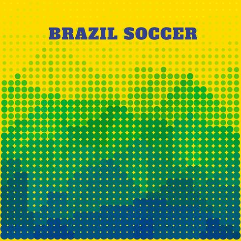 Brazilië voetbal ontwerp