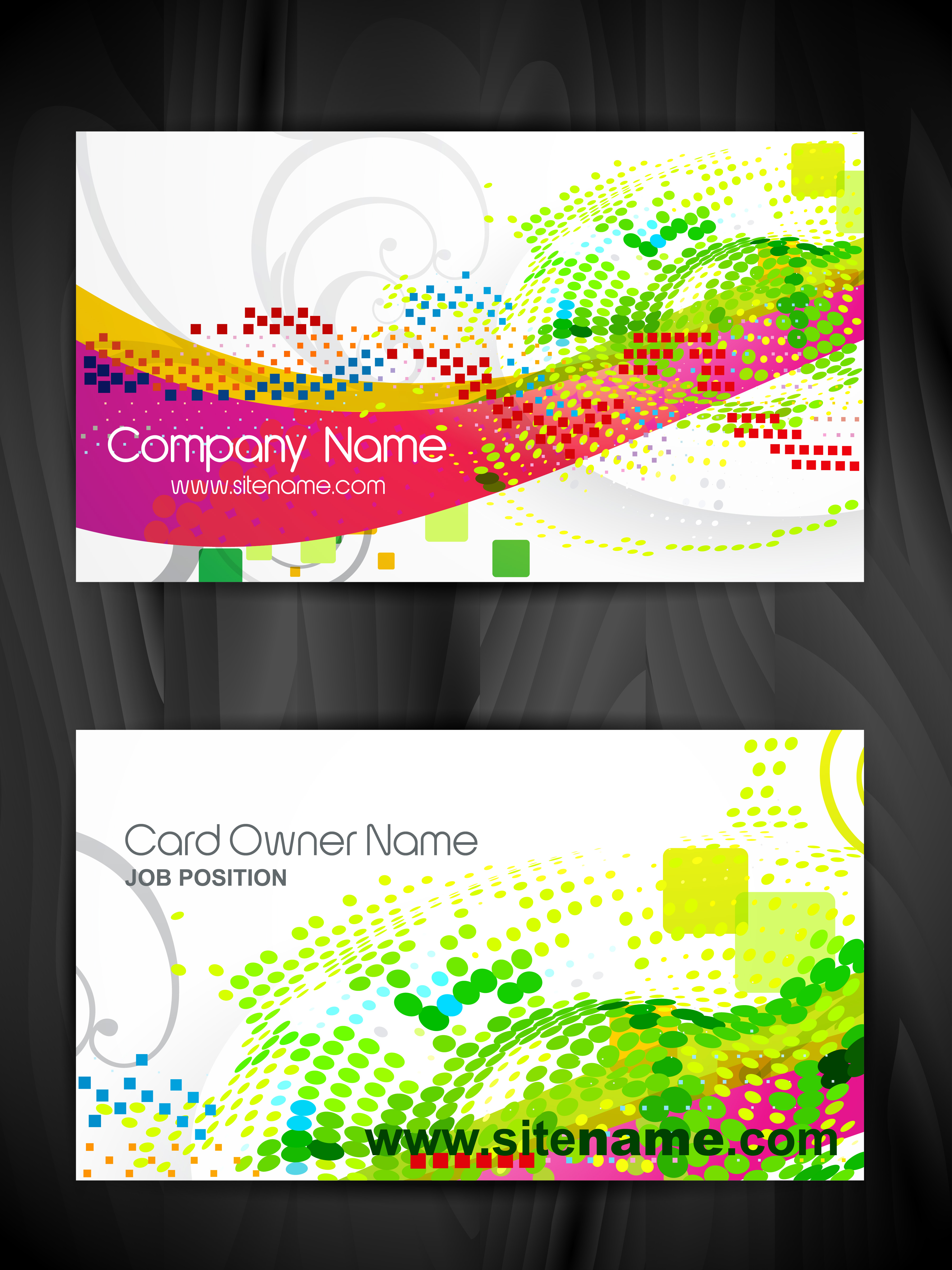 Beautiful business card template download vetores e grficos gratuitos reheart Images