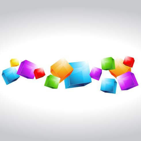 mutli color cubes shapes