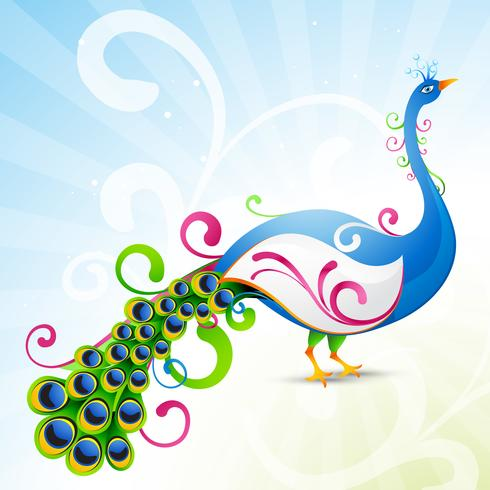 artistic peacock