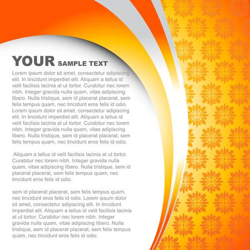 vector orange color template design