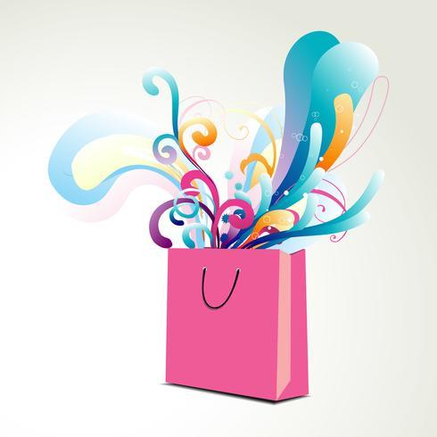 colorful floral bag illustration
