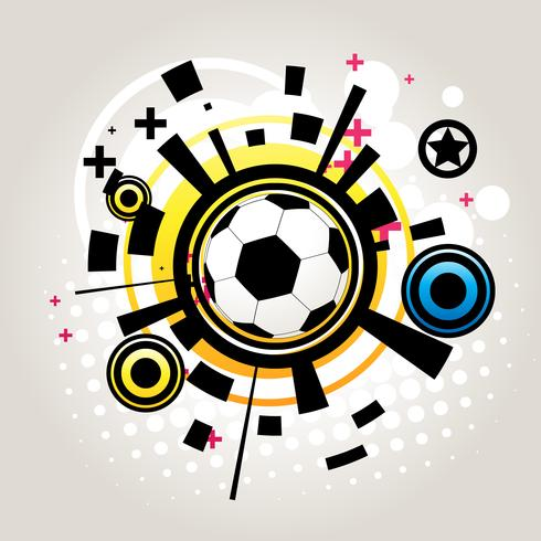Abstract football vector