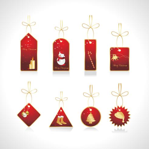 vector set kerst tags
