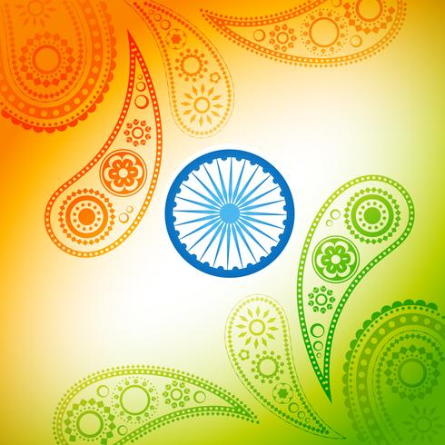 prachtige Indiase vlag ontwerp