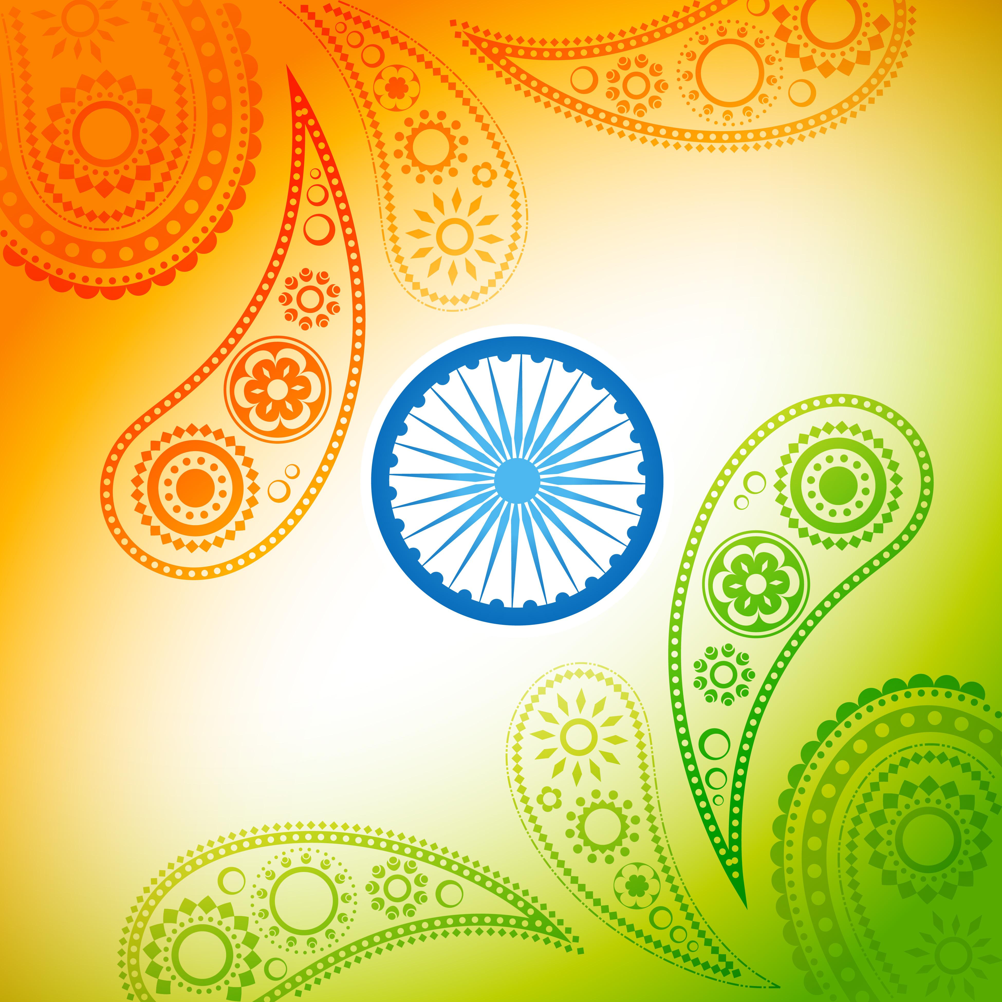 Beautiful Indian Flag Design 221211 Vector Art At Vecteezy