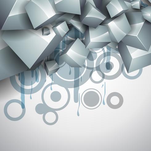 elegante vector de cubo