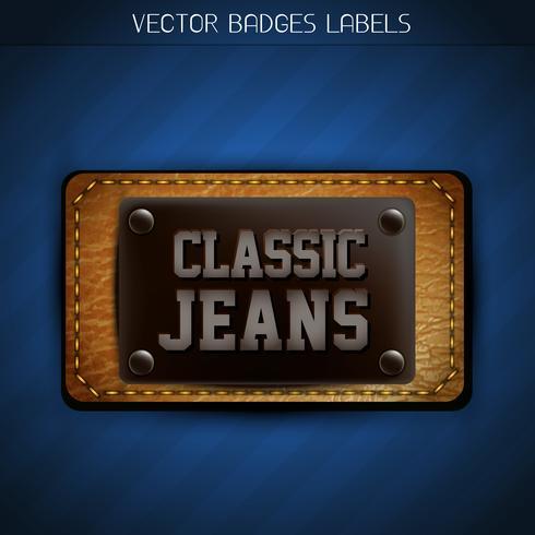 etichetta di jeans classici