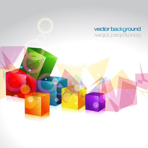 conception de vecteur de boîte multicolore