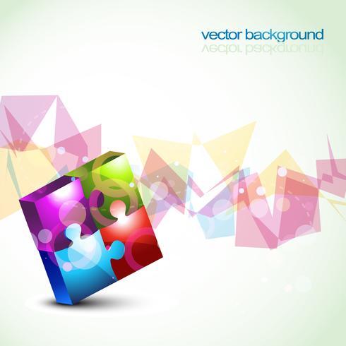 formes de puzzle vectorielles colorées
