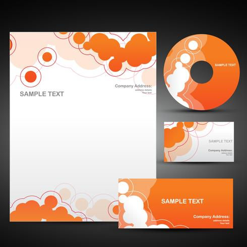 vector orange template set