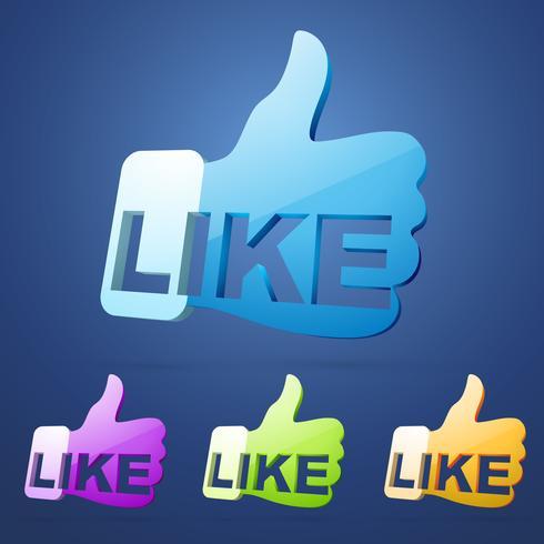 social like thumb