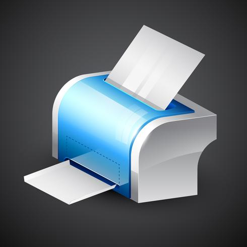 blue printer icon