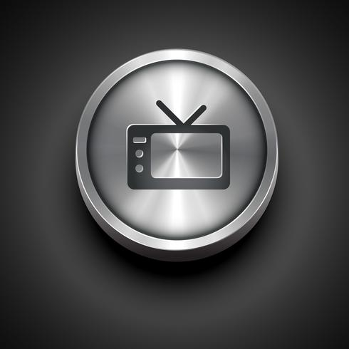 metallic television icon