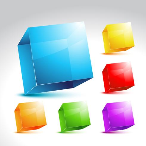 Collection of colorful cube