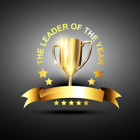 vector leader trophy icon
