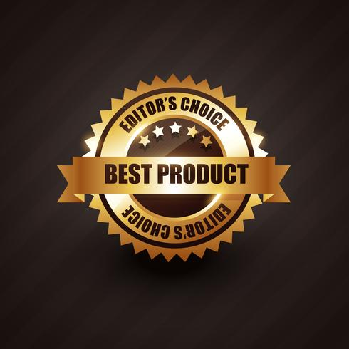 best product golden label badge vector design