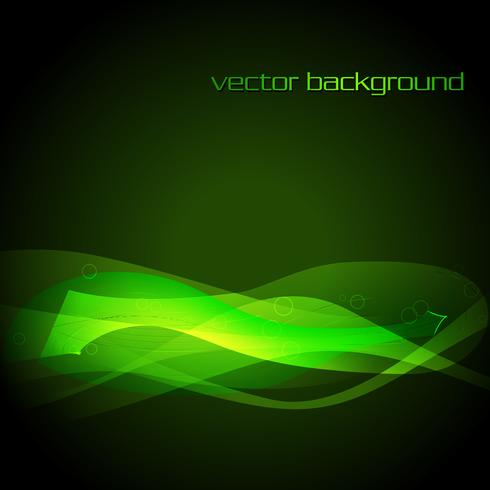 vector green glowing stylish wave