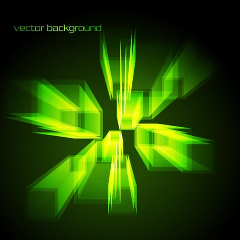 forma abstracta de vector en color verde