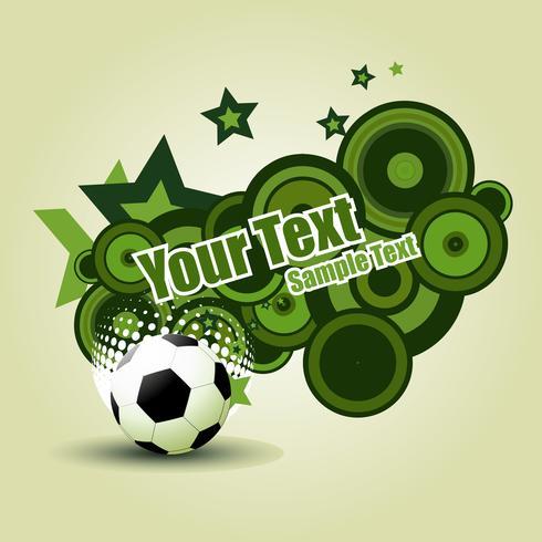 Vector football design