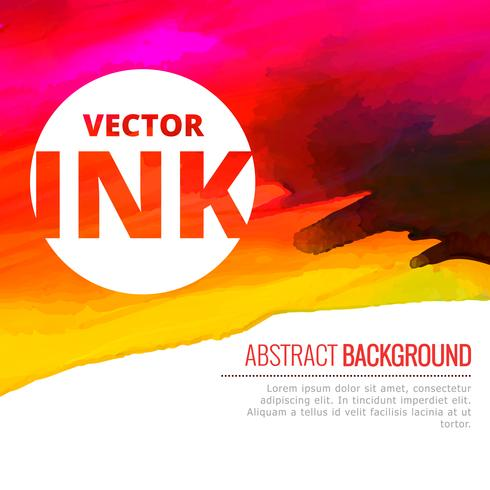 bright watercolor colorful ink splash vector