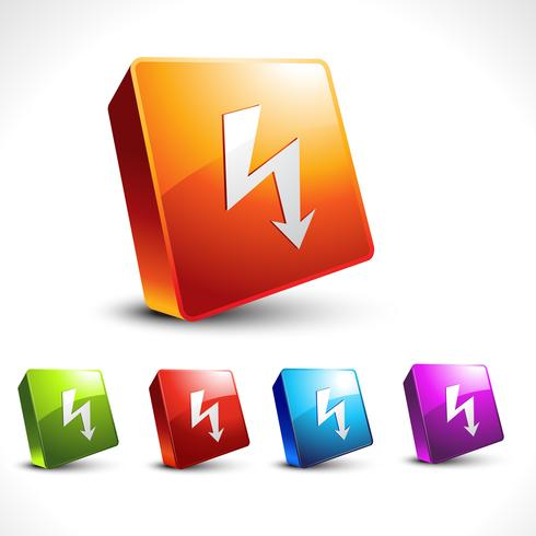 vector arrow 3d icon shape