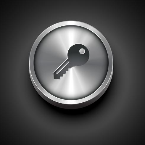 metallic key icon